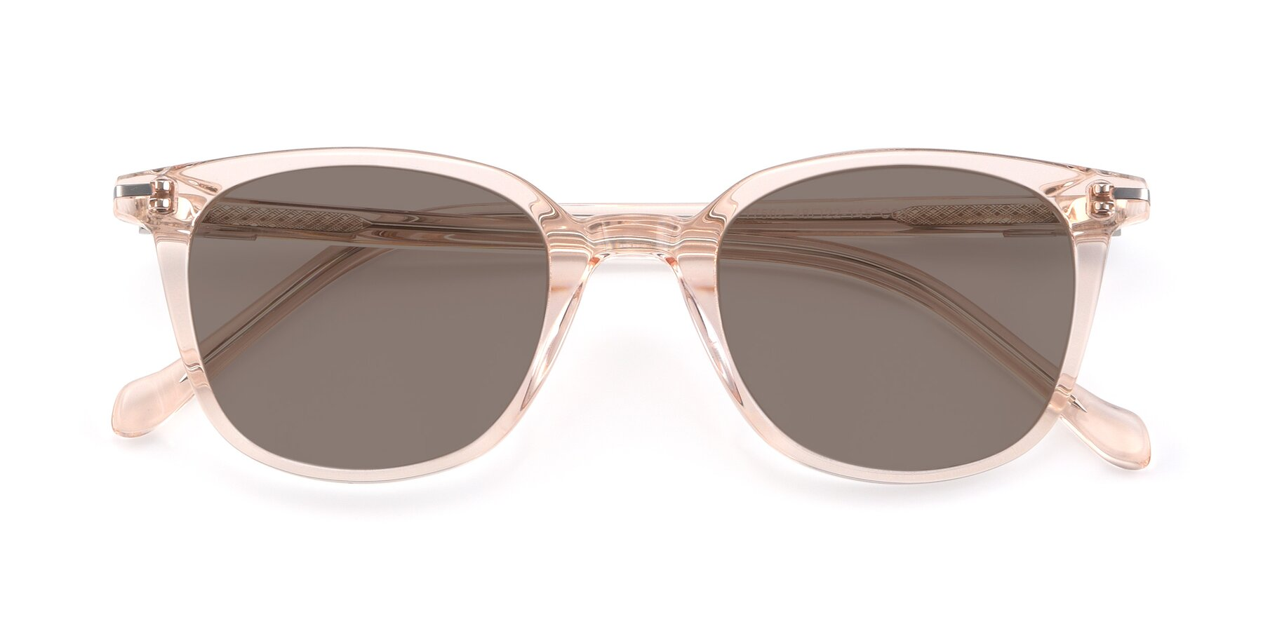Folded Front of 17562 in Transparent Pink with Medium Brown Tinted Lenses