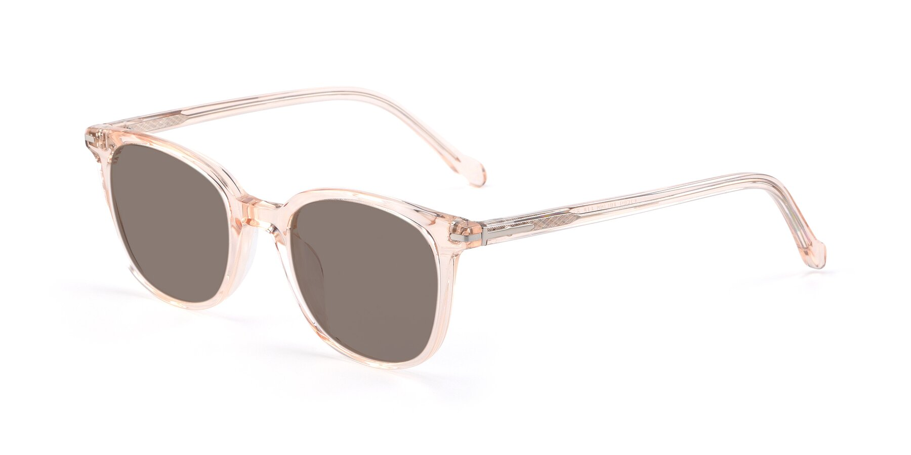 Angle of 17562 in Transparent Pink with Medium Brown Tinted Lenses
