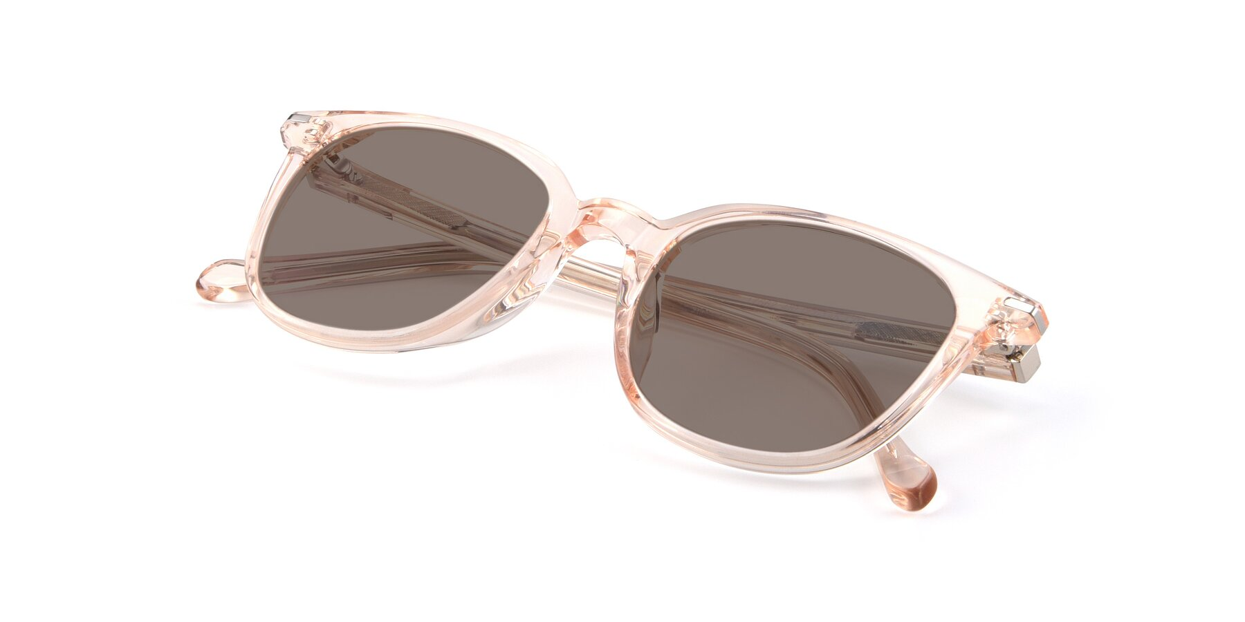 View of 17562 in Transparent Pink with Medium Brown Tinted Lenses