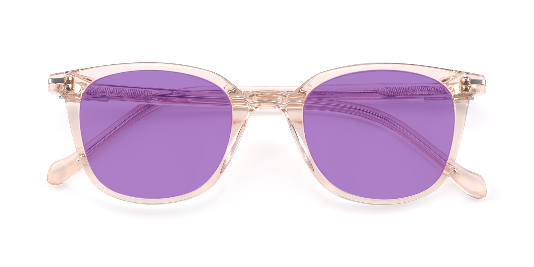 Folded Front of 17562 in Transparent Pink with Medium Purple Tinted Lenses