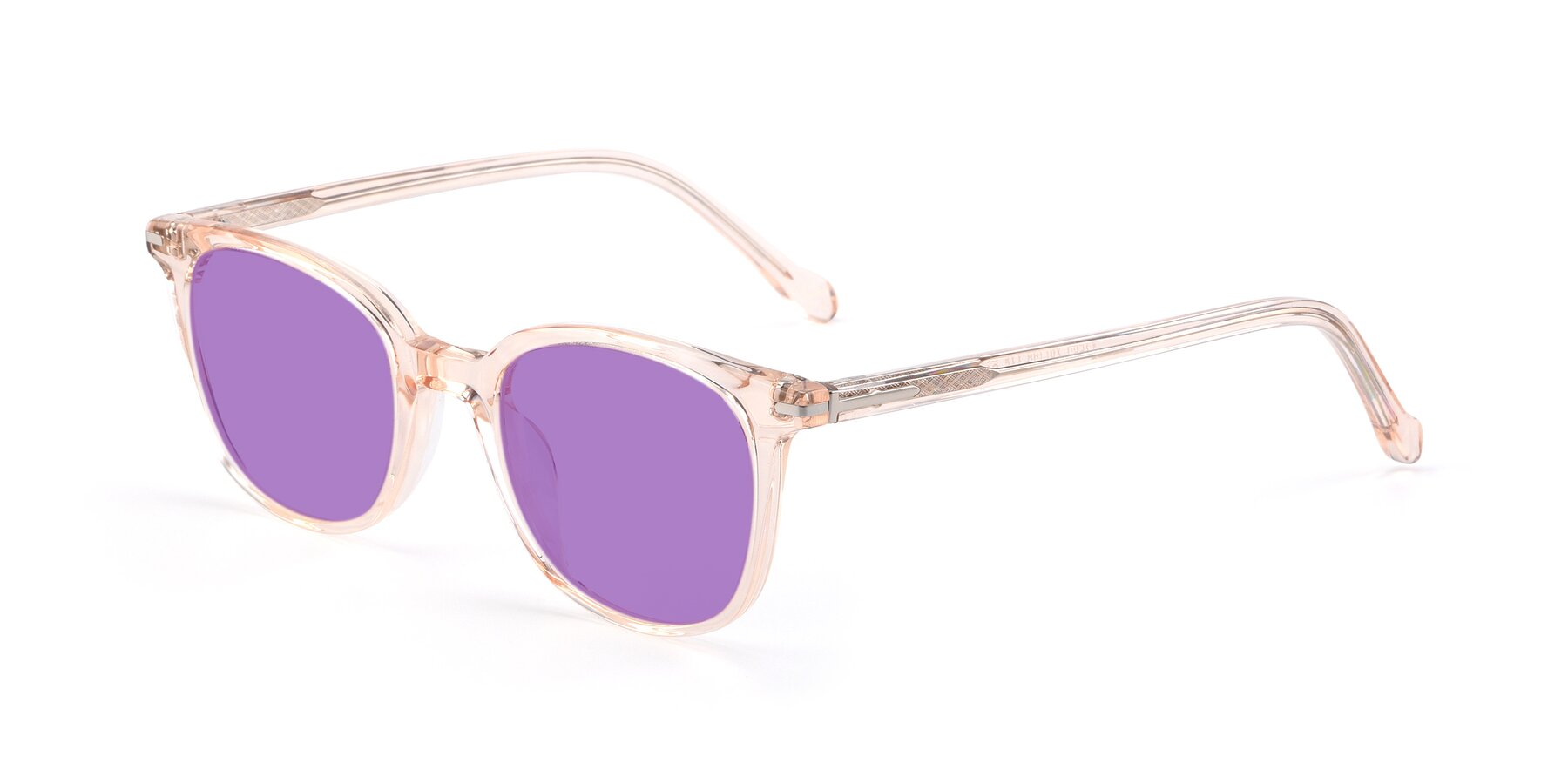 Angle of 17562 in Transparent Pink with Medium Purple Tinted Lenses