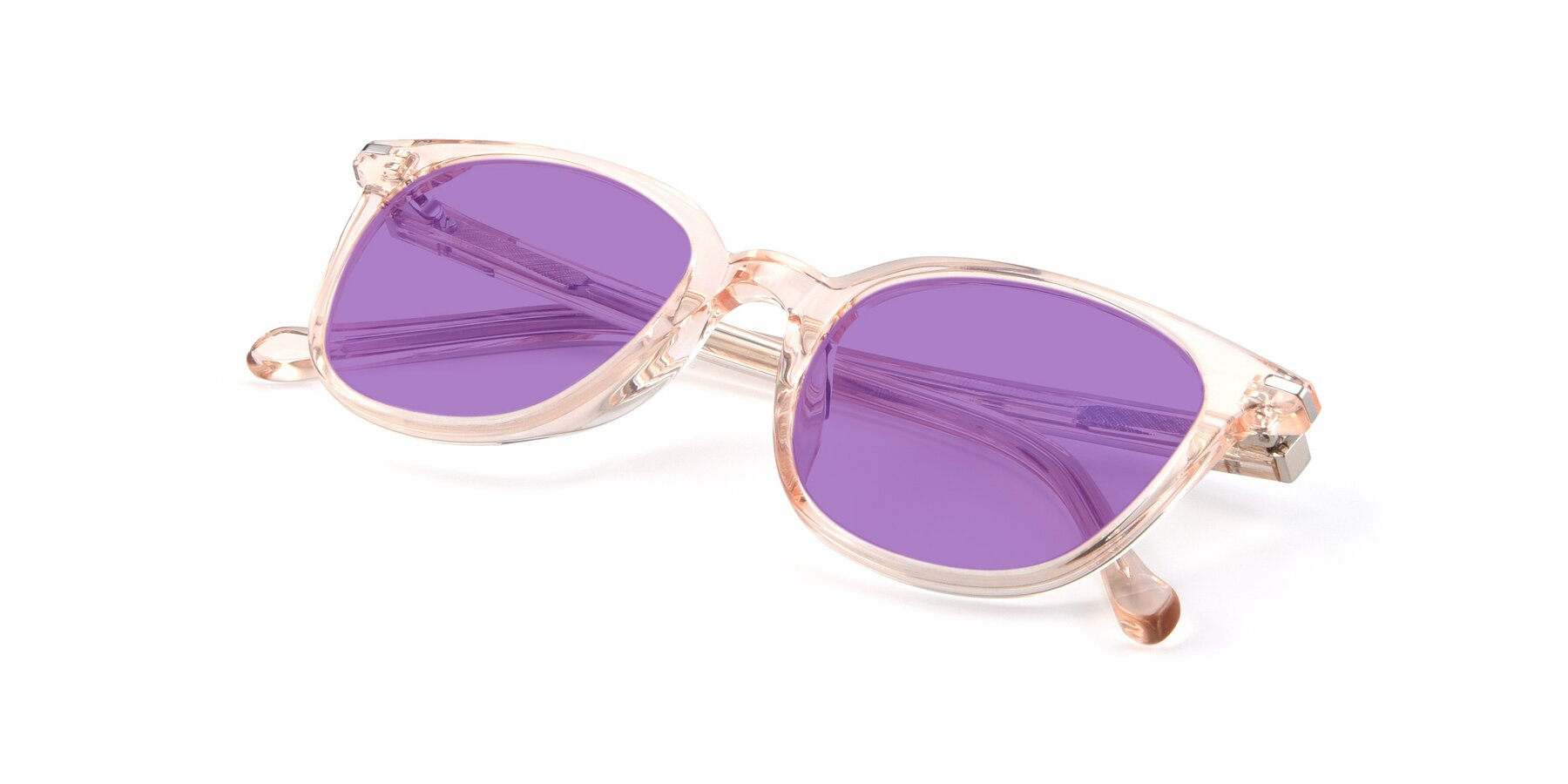 View of 17562 in Transparent Pink with Medium Purple Tinted Lenses