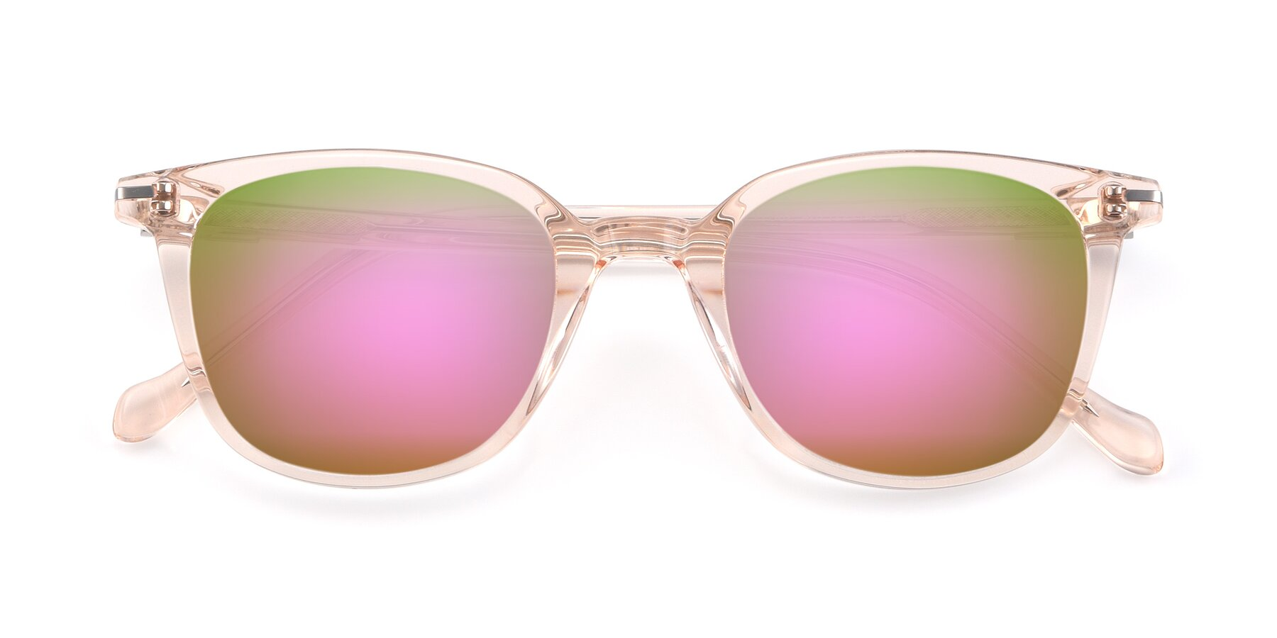 Folded Front of 17562 in Transparent Pink with Pink Mirrored Lenses