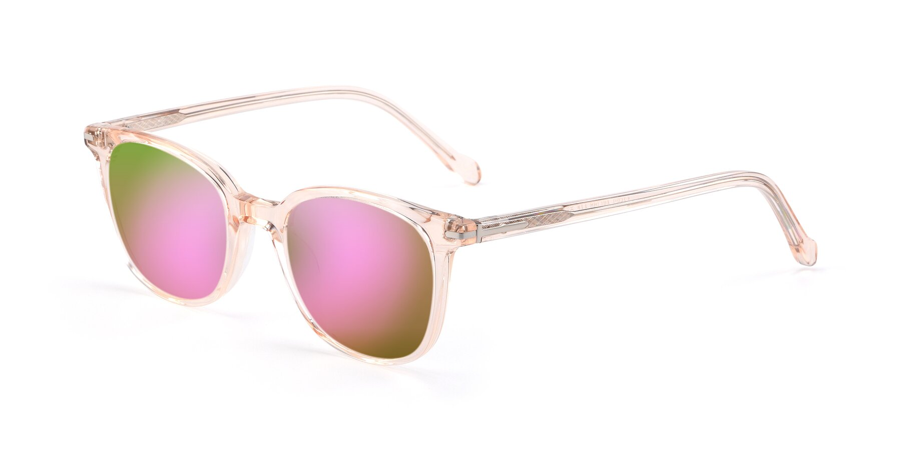 Angle of 17562 in Transparent Pink with Pink Mirrored Lenses
