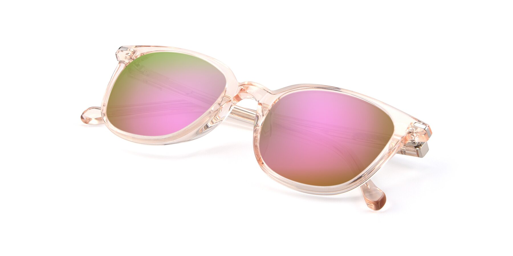 View of 17562 in Transparent Pink with Pink Mirrored Lenses
