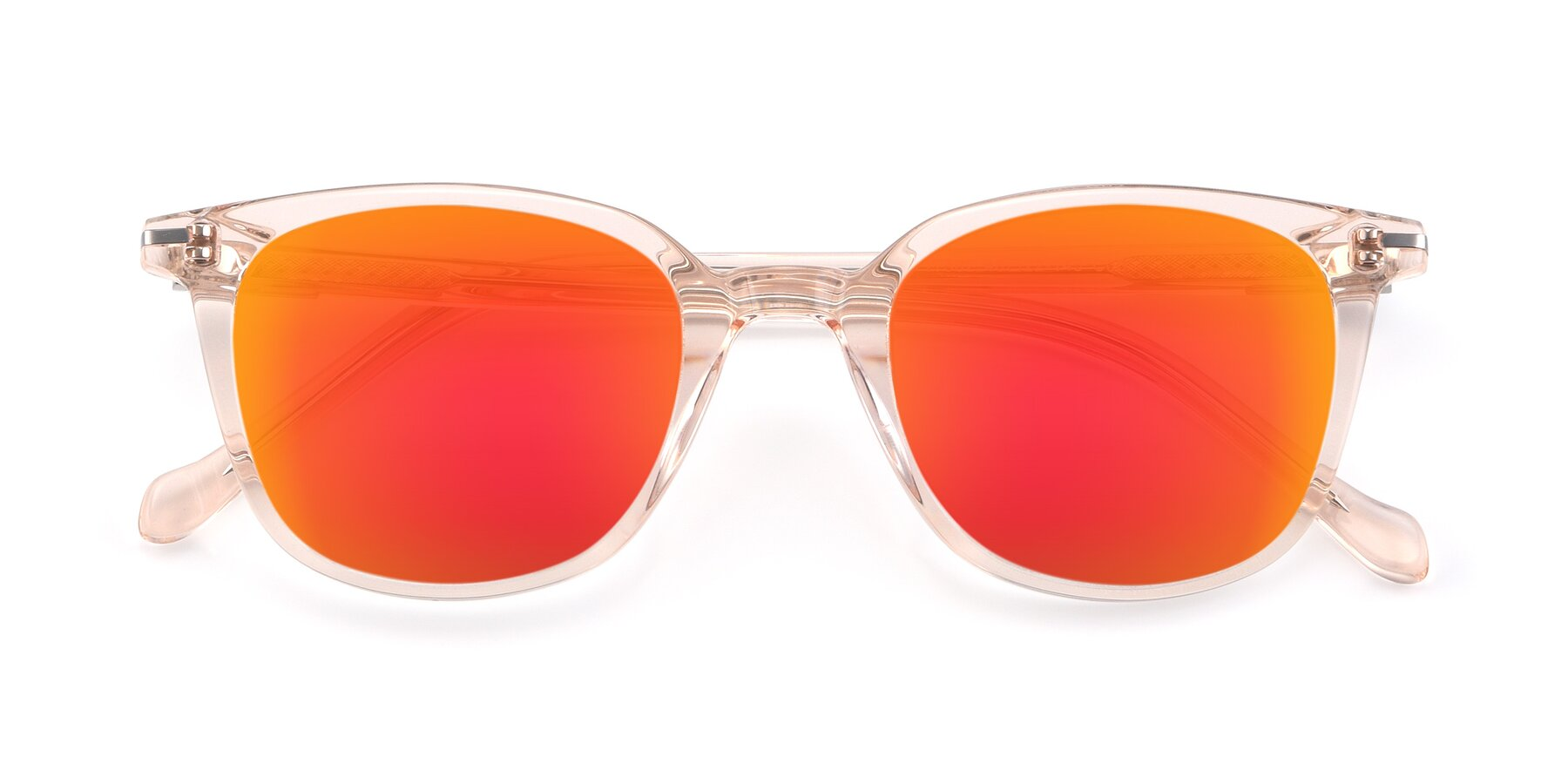 Folded Front of 17562 in Transparent Pink with Red Gold Mirrored Lenses