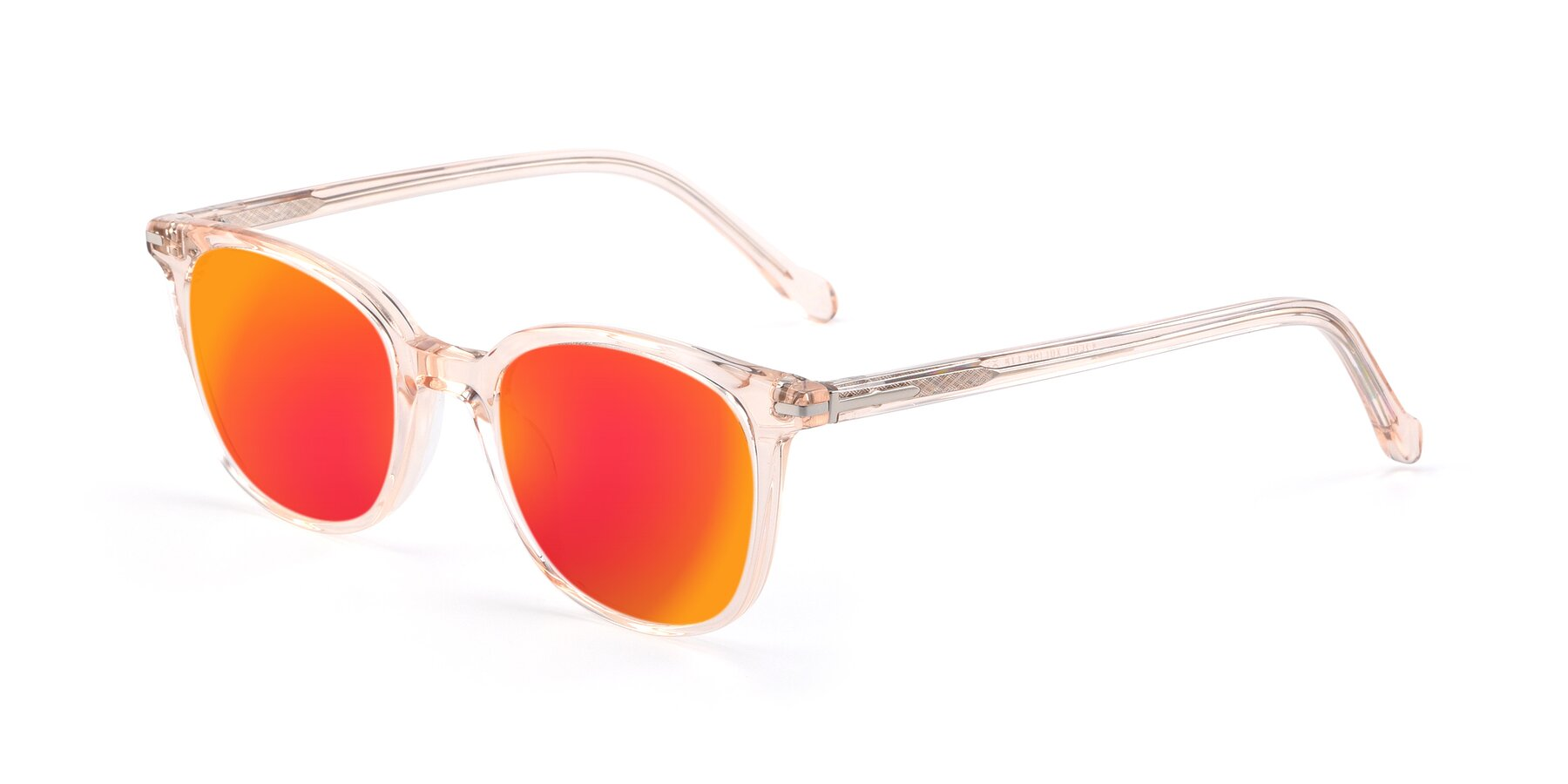 Angle of 17562 in Transparent Pink with Red Gold Mirrored Lenses