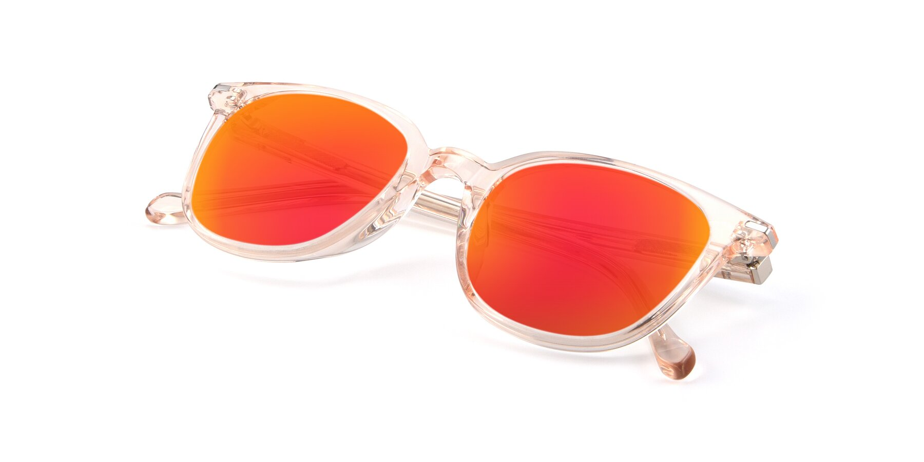 View of 17562 in Transparent Pink with Red Gold Mirrored Lenses