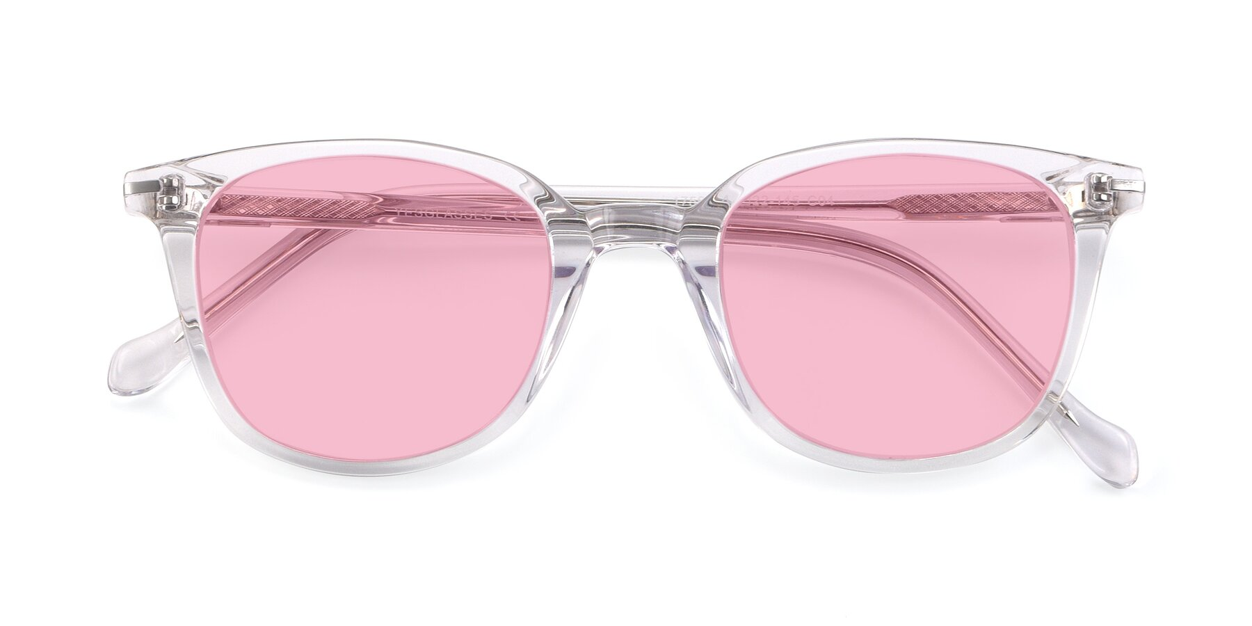 Folded Front of 17562 in Clear with Medium Pink Tinted Lenses