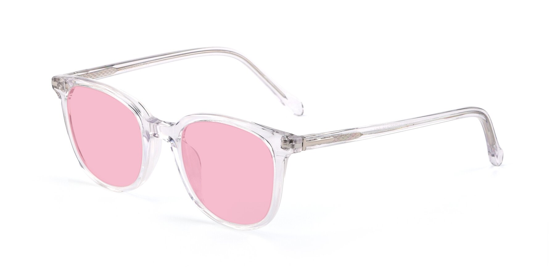 Angle of 17562 in Clear with Medium Pink Tinted Lenses