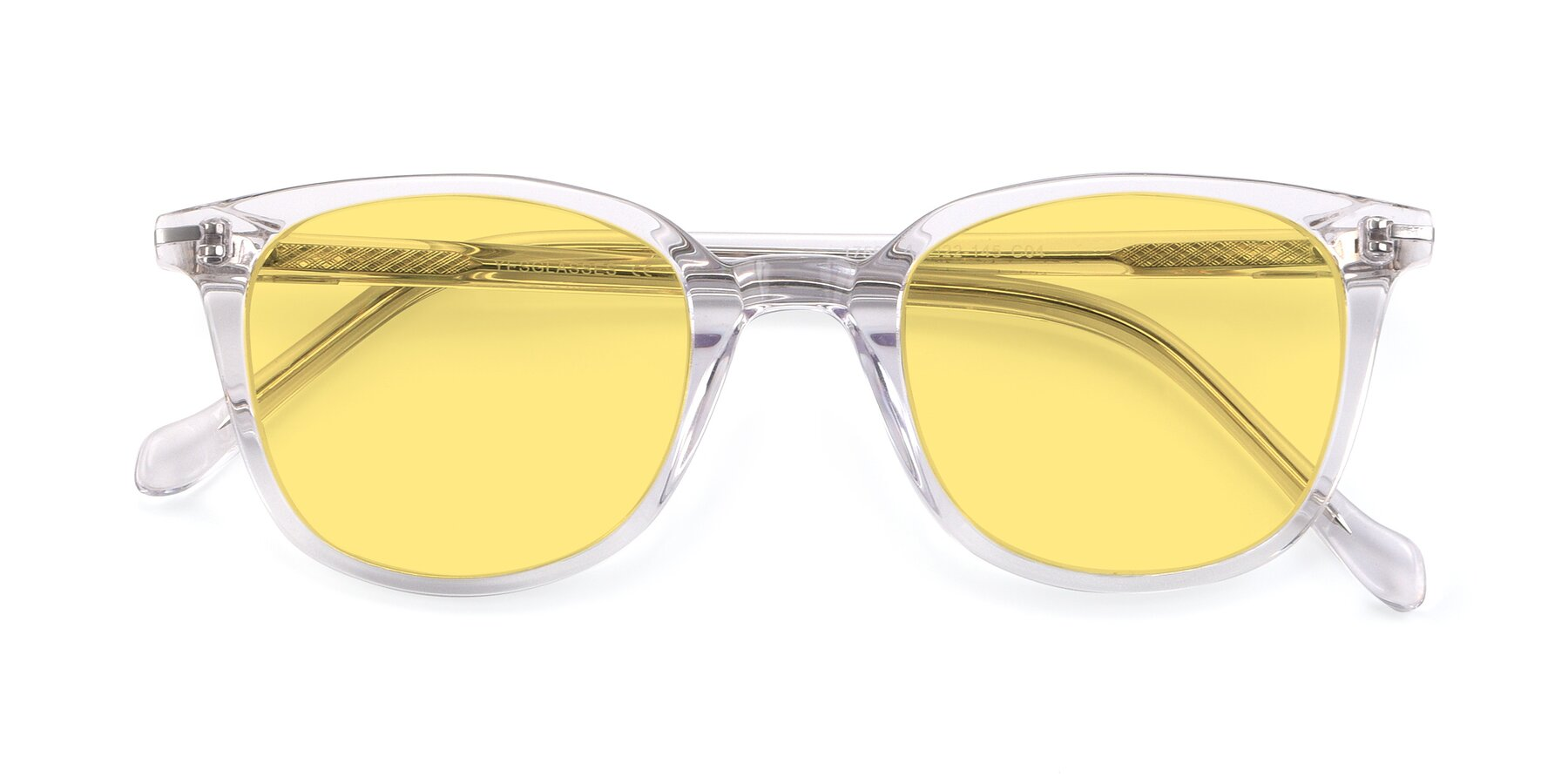 Folded Front of 17562 in Clear with Medium Yellow Tinted Lenses