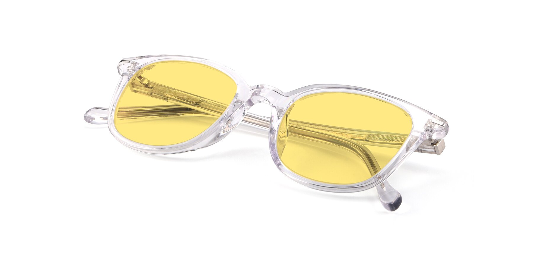 View of 17562 in Clear with Medium Yellow Tinted Lenses