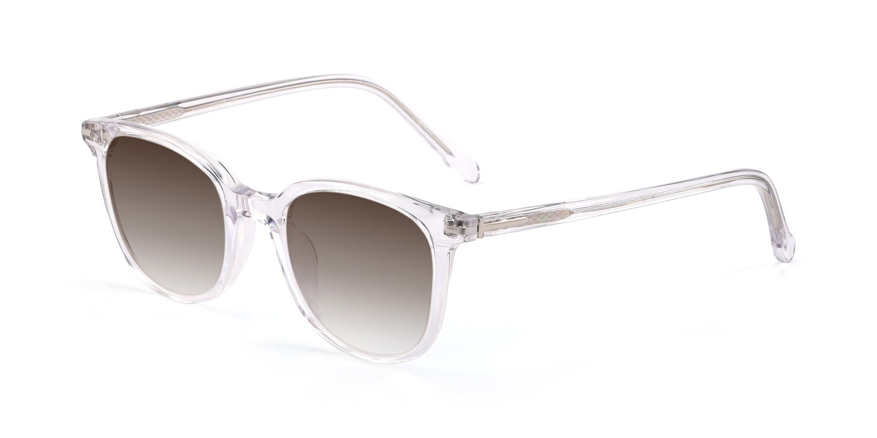 Angle of 17562 in Clear with Brown Gradient Lenses