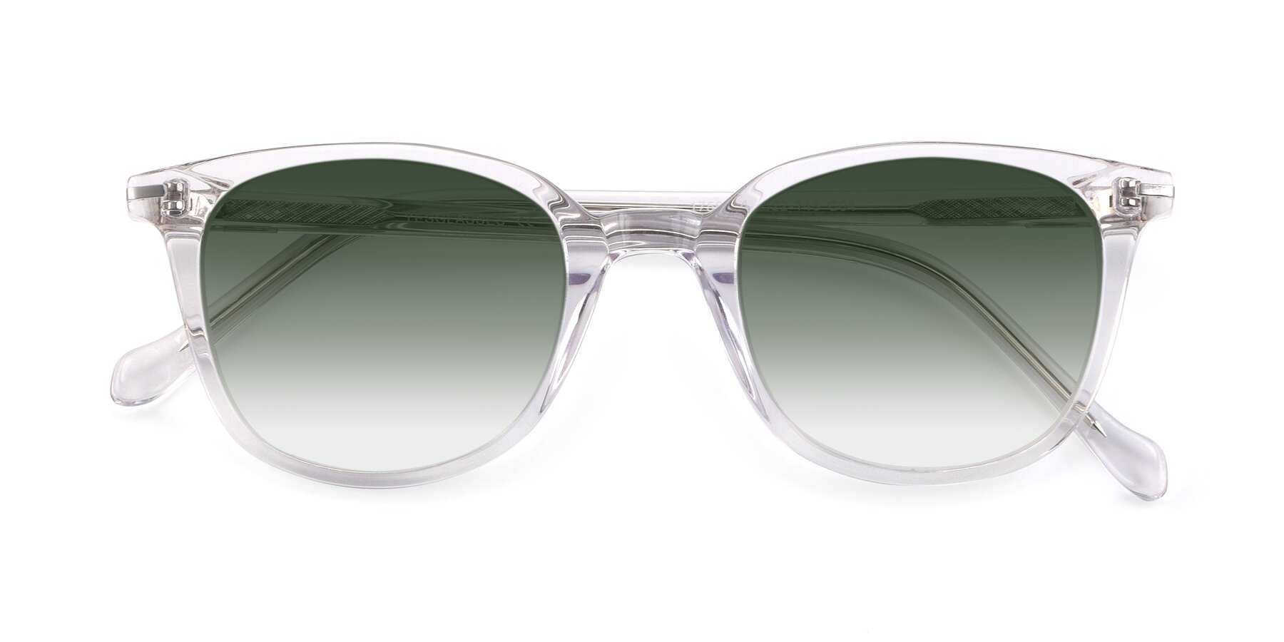 Folded Front of 17562 in Clear with Green Gradient Lenses