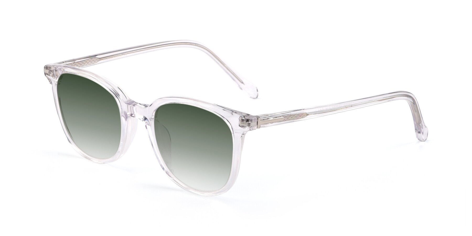 Angle of 17562 in Clear with Green Gradient Lenses