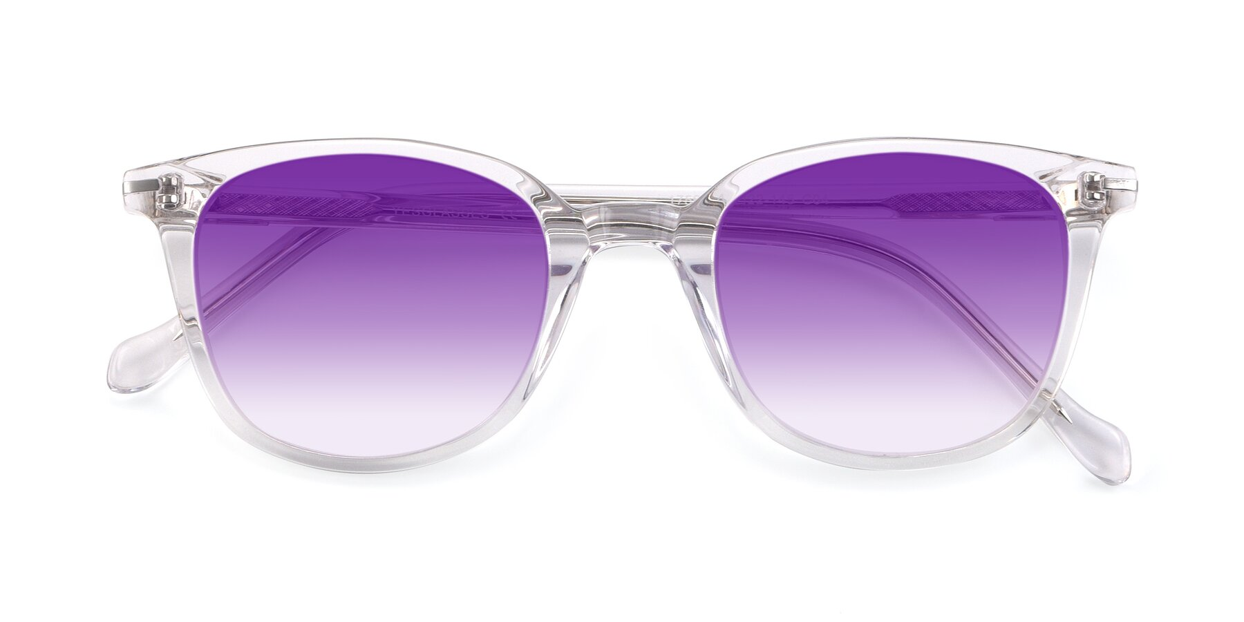 Folded Front of 17562 in Clear with Purple Gradient Lenses