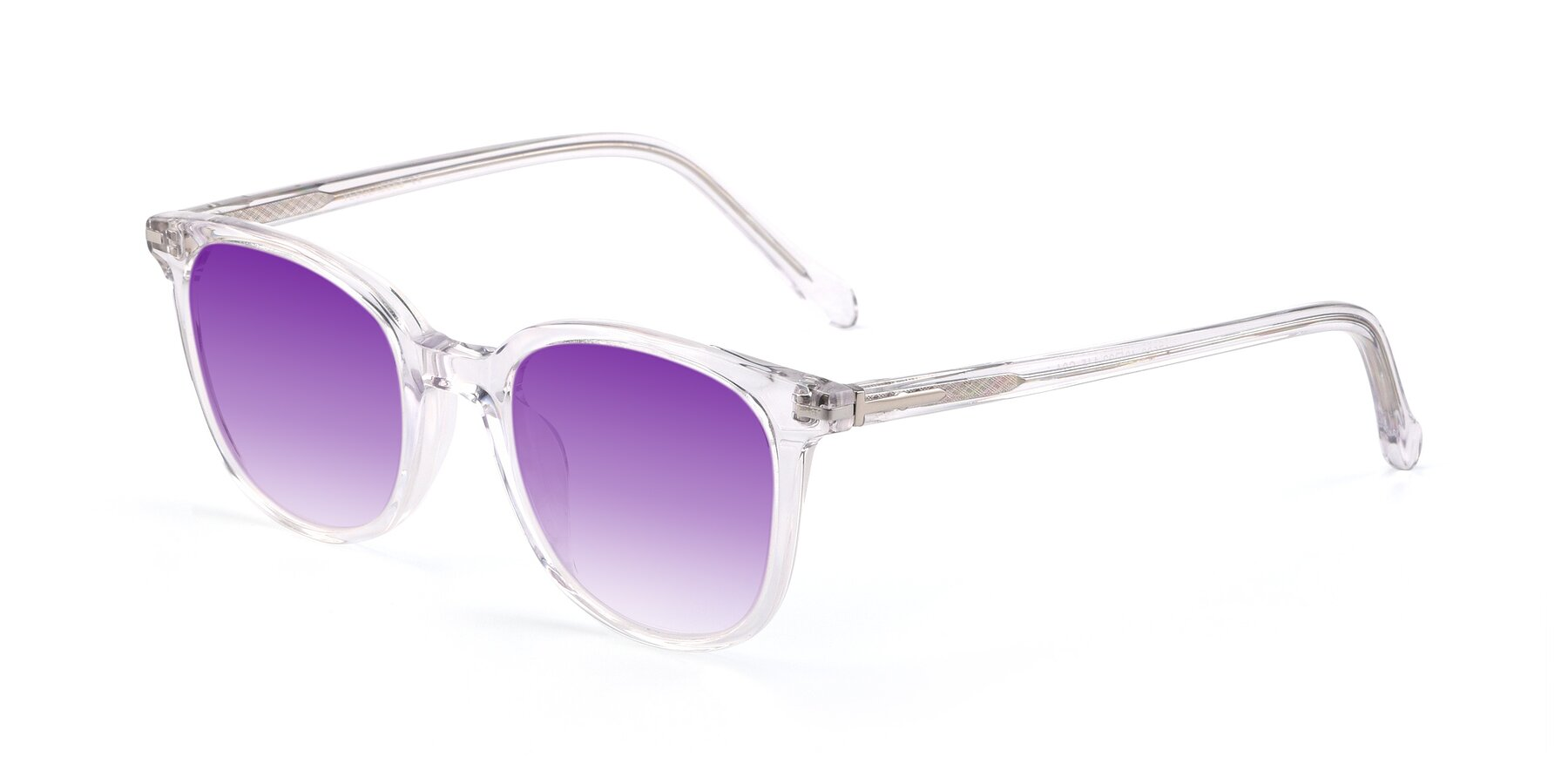 Angle of 17562 in Clear with Purple Gradient Lenses