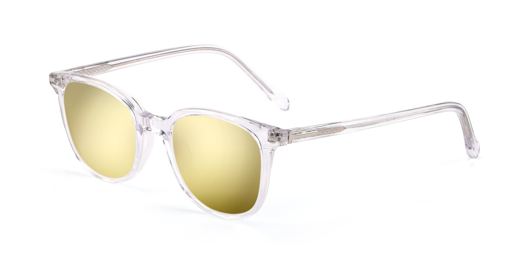 Angle of 17562 in Clear with Gold Mirrored Lenses