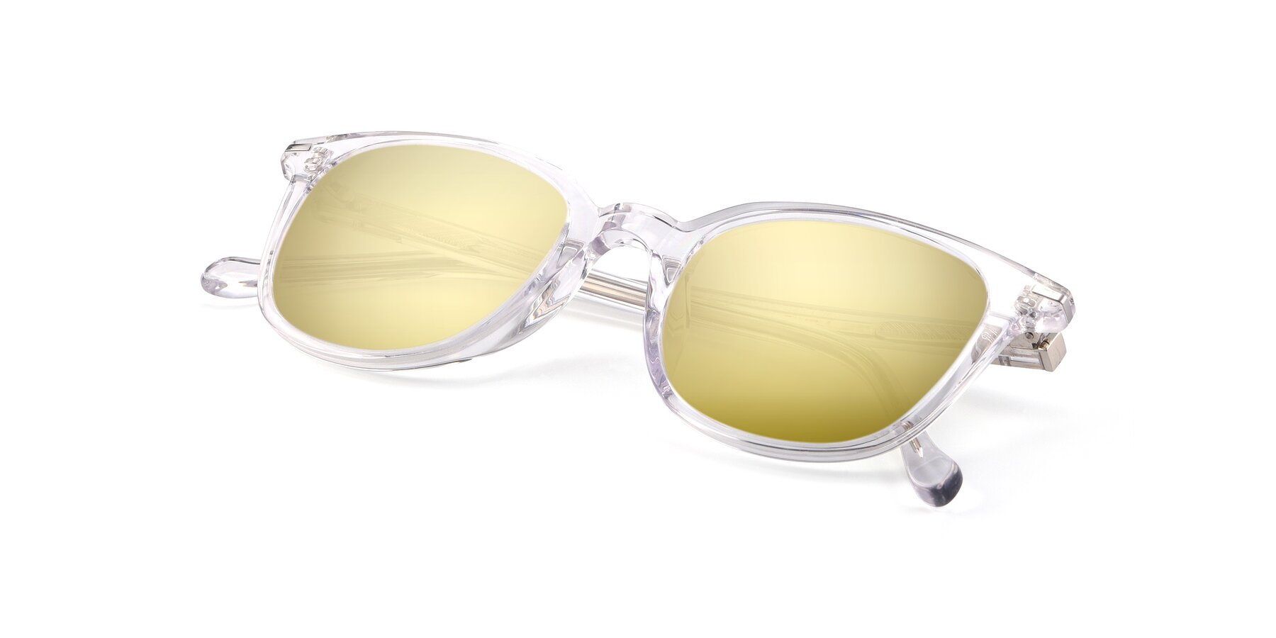 View of 17562 in Clear with Gold Mirrored Lenses