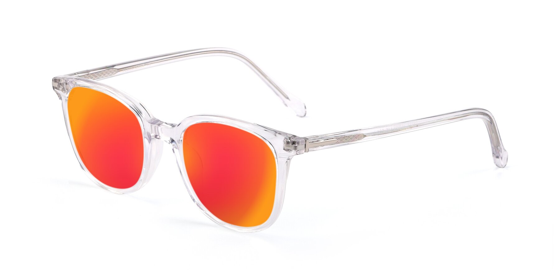 Angle of 17562 in Clear with Red Gold Mirrored Lenses