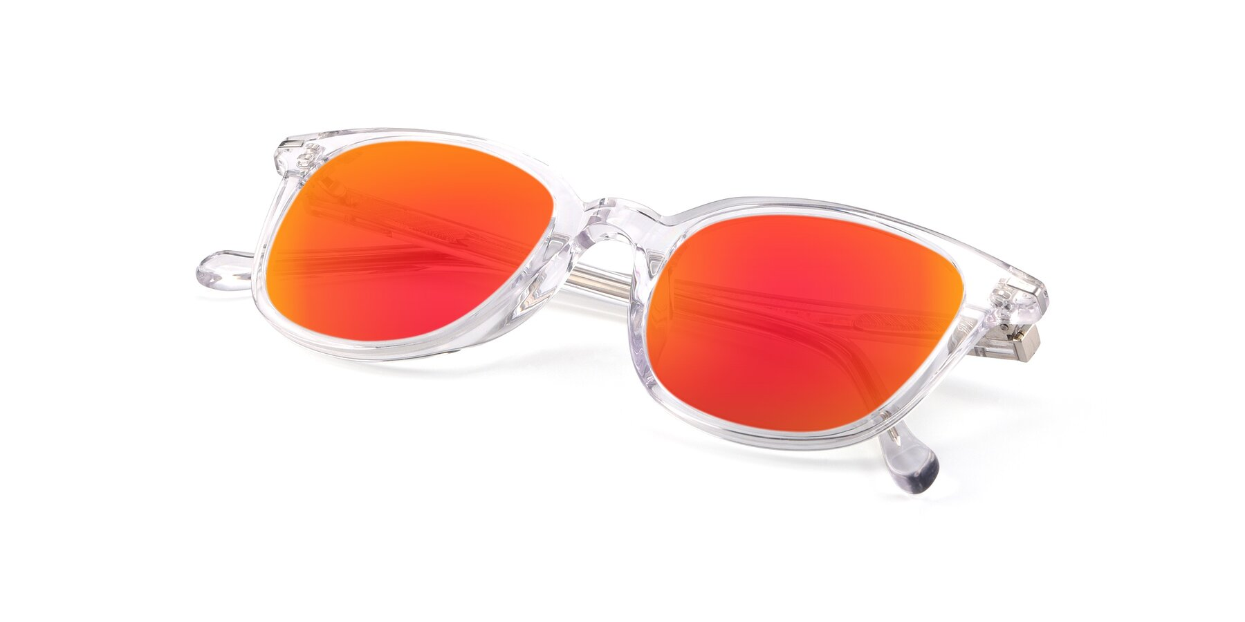 View of 17562 in Clear with Red Gold Mirrored Lenses