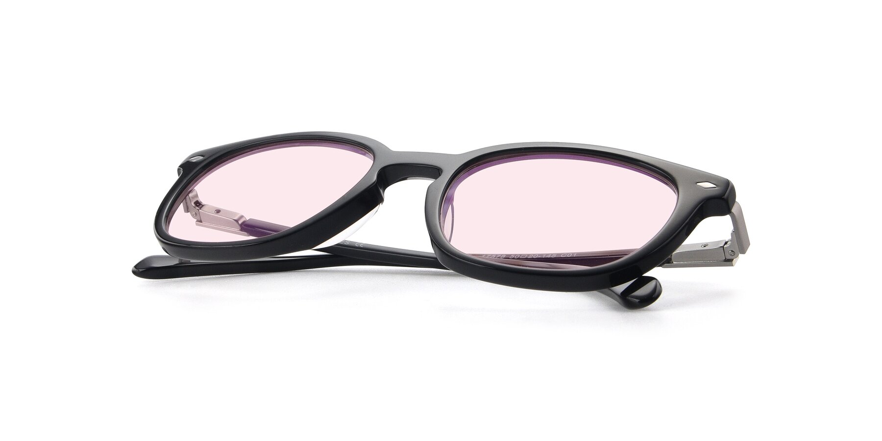 View of 17578 in Black with Light Pink Tinted Lenses