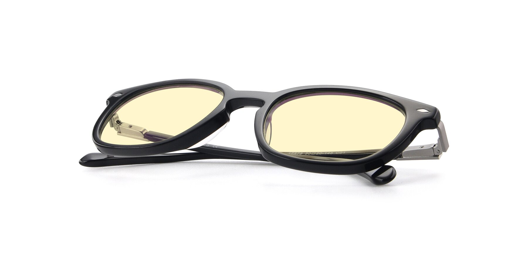 View of 17578 in Black with Light Yellow Tinted Lenses