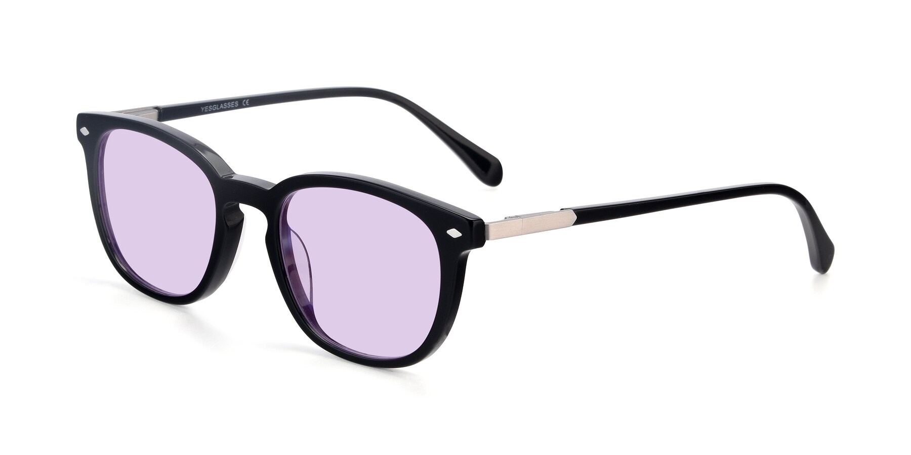 Angle of 17578 in Black with Light Purple Tinted Lenses