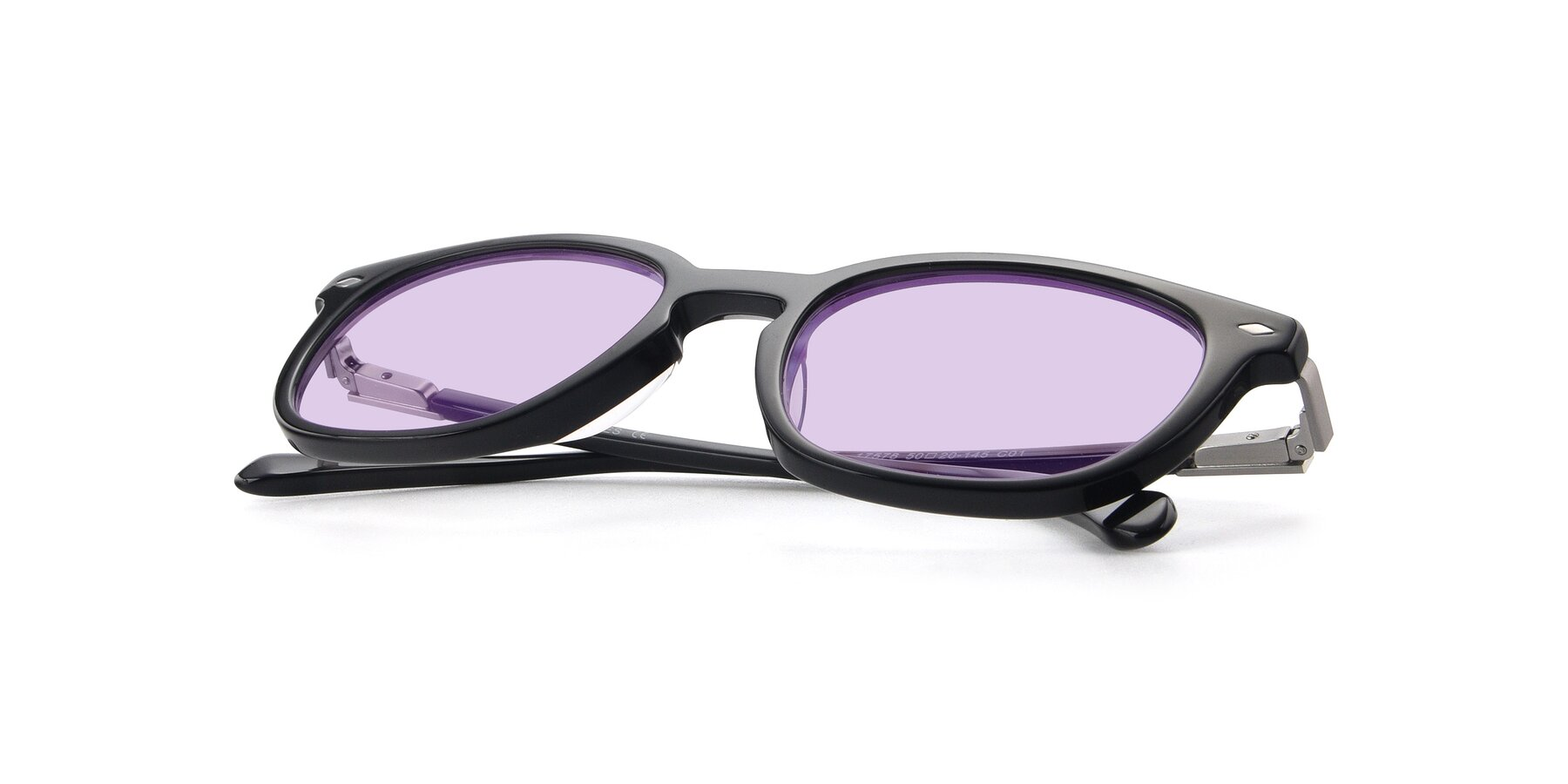 View of 17578 in Black with Light Purple Tinted Lenses