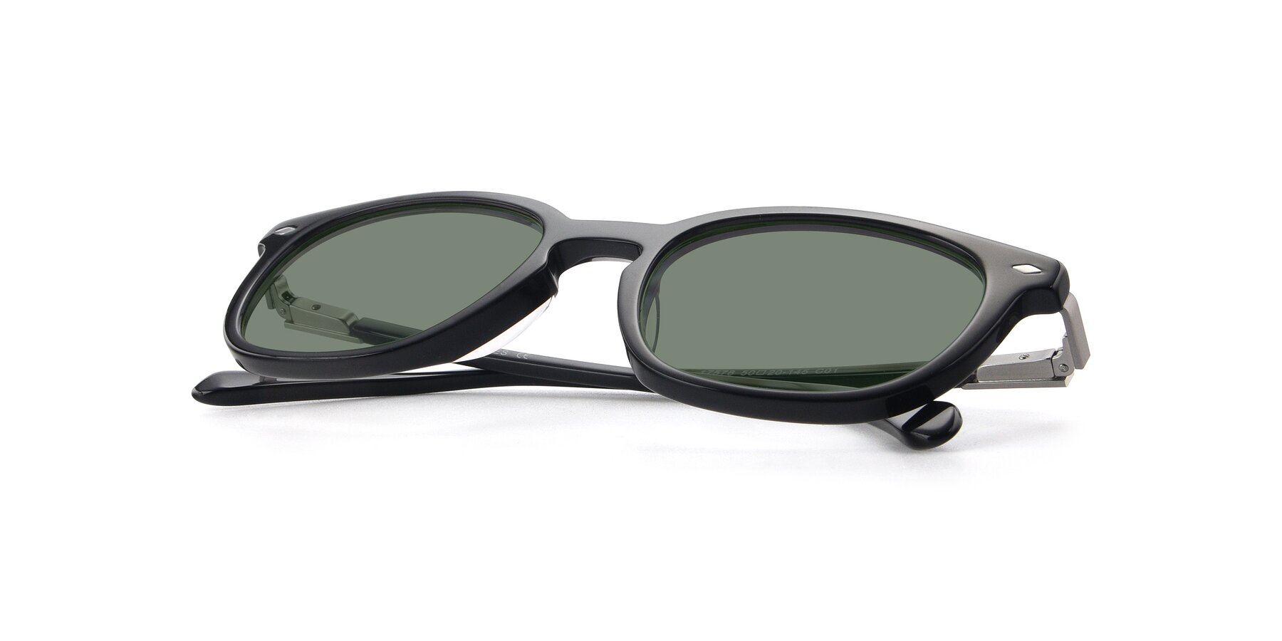 View of 17578 in Black with Medium Green Tinted Lenses