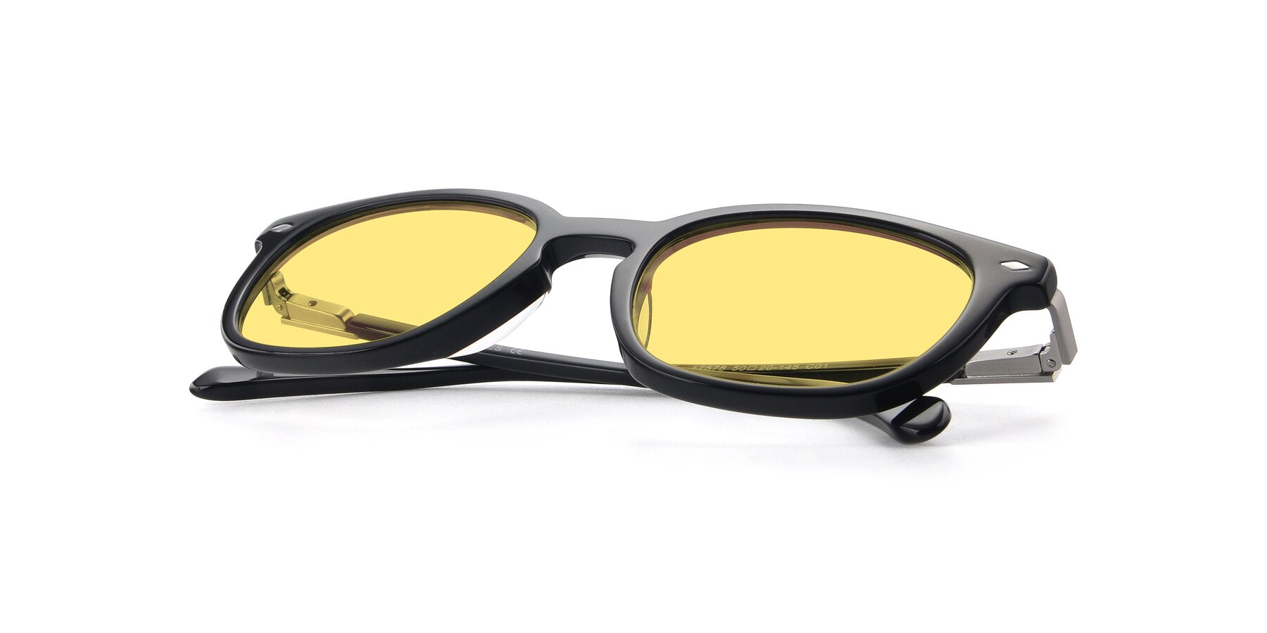 View of 17578 in Black with Medium Yellow Tinted Lenses