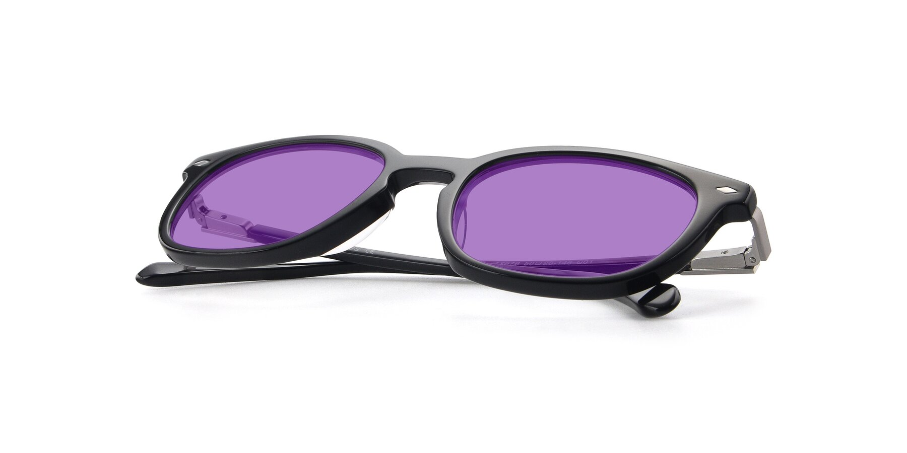 View of 17578 in Black with Medium Purple Tinted Lenses