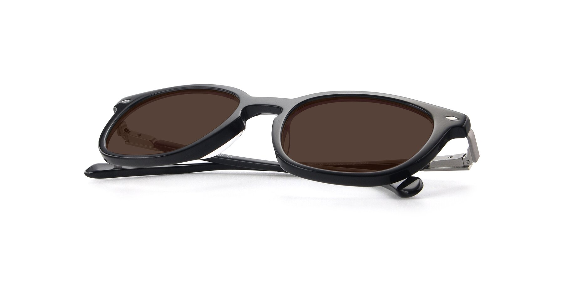 View of 17578 in Black with Brown Tinted Lenses