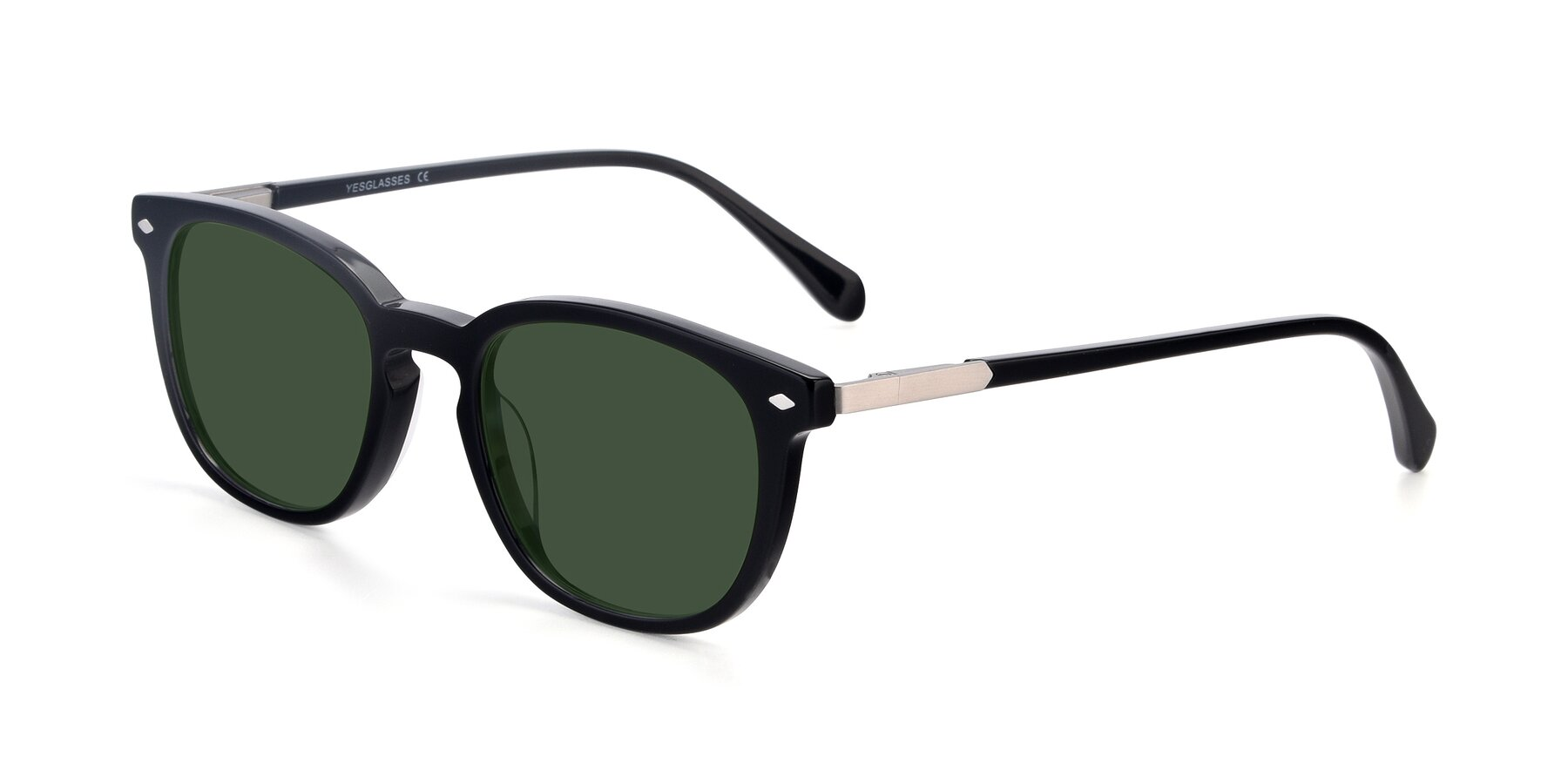 Angle of 17578 in Black with Green Tinted Lenses