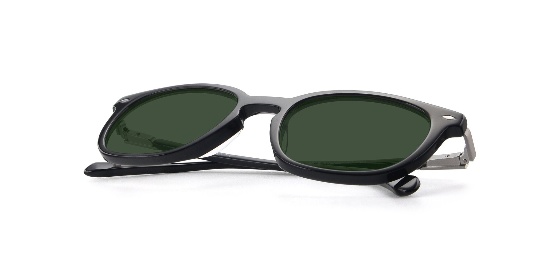 View of 17578 in Black with Green Tinted Lenses