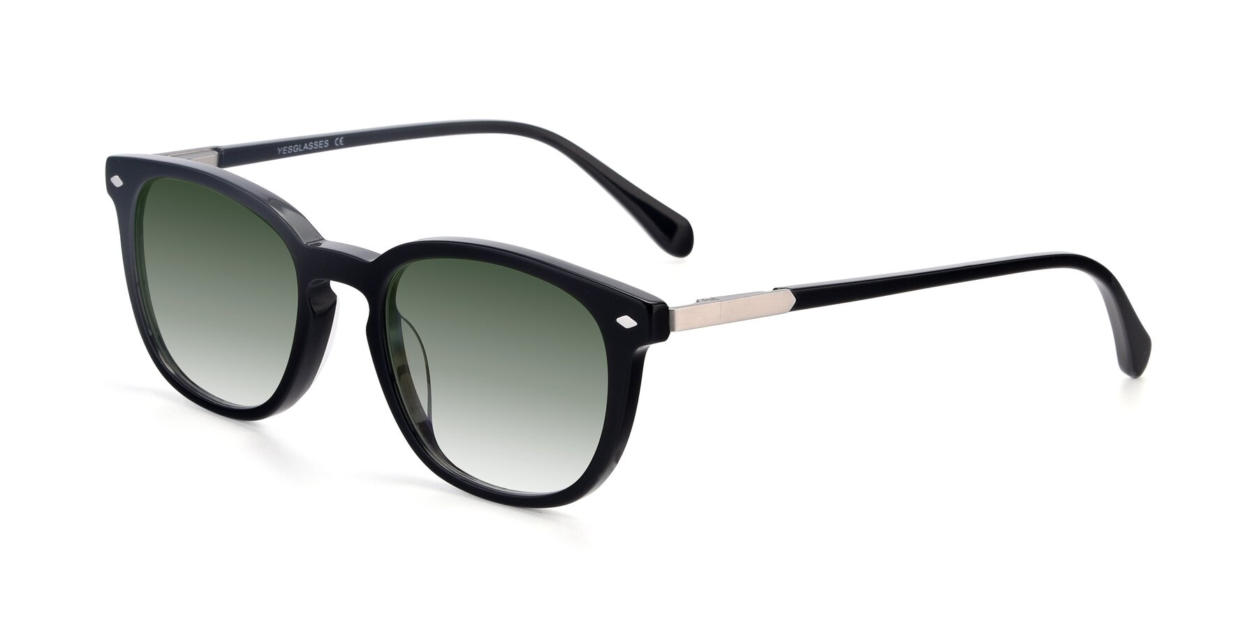 Angle of 17578 in Black with Green Gradient Lenses