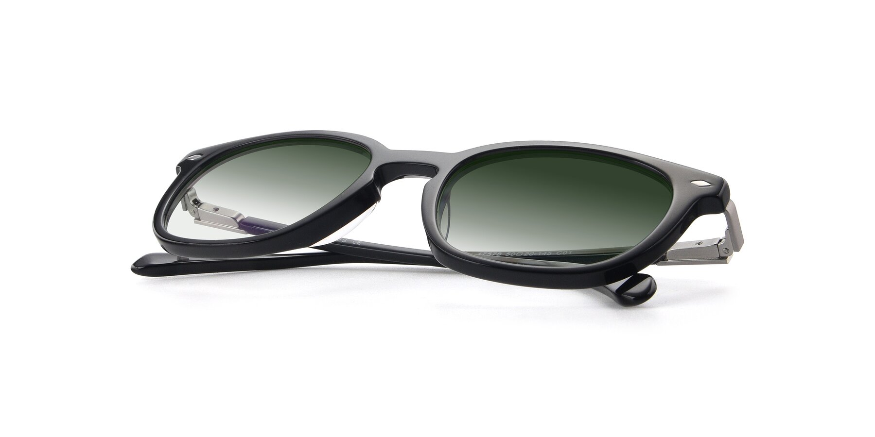 View of 17578 in Black with Green Gradient Lenses