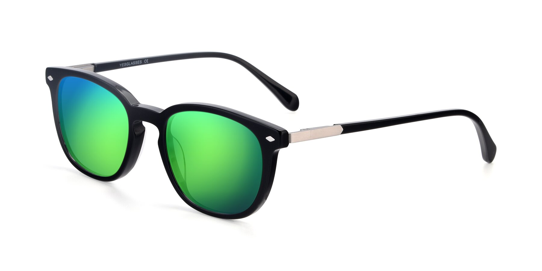Angle of 17578 in Black with Green Mirrored Lenses