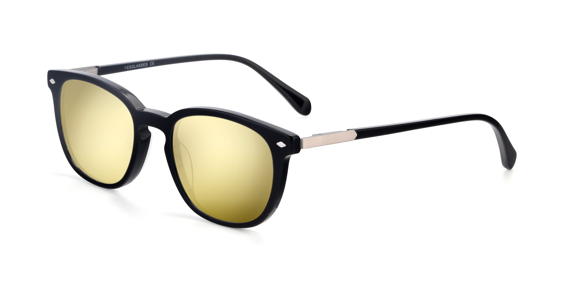 Angle of 17578 in Black with Gold Mirrored Lenses