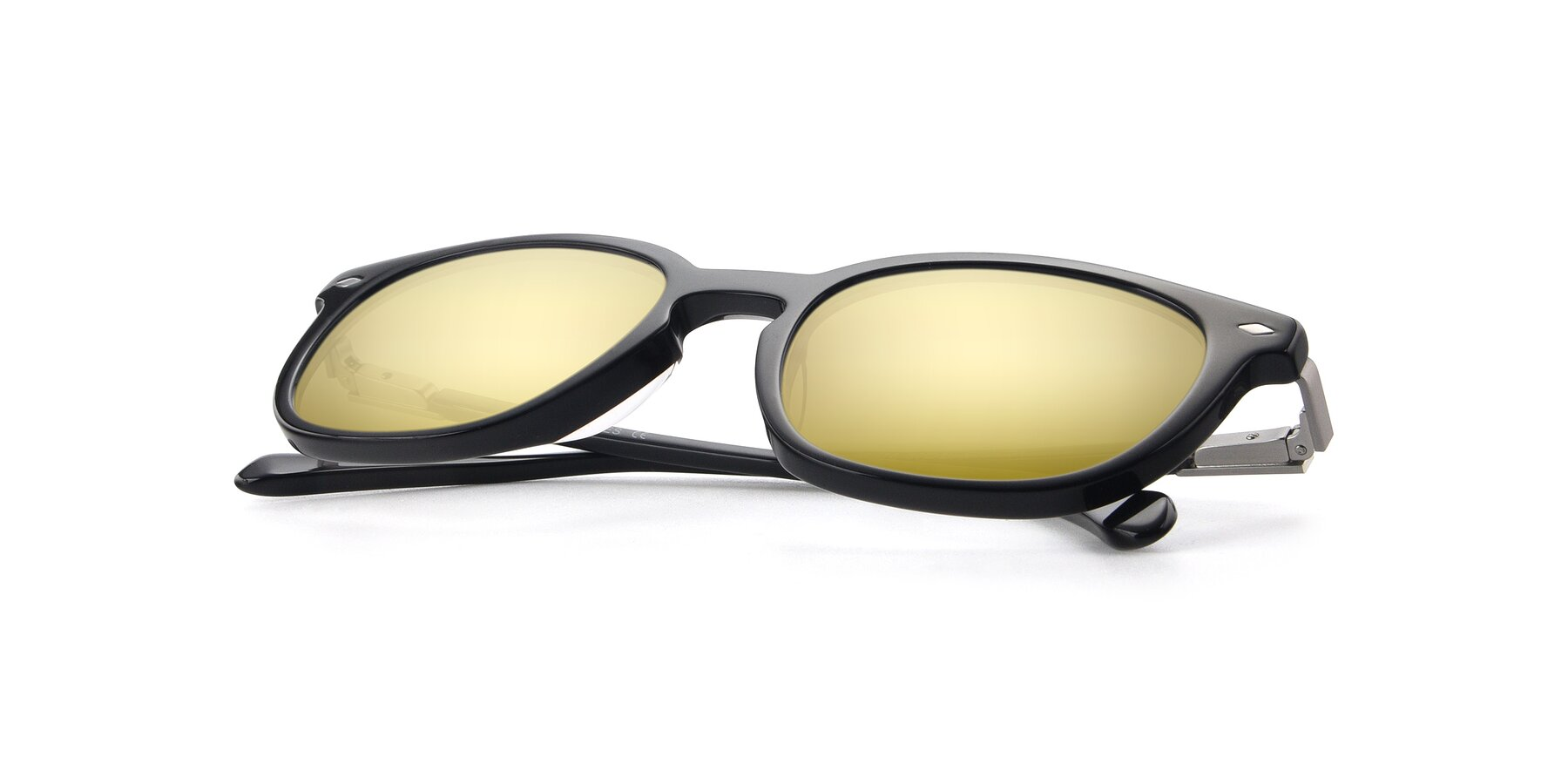 View of 17578 in Black with Gold Mirrored Lenses
