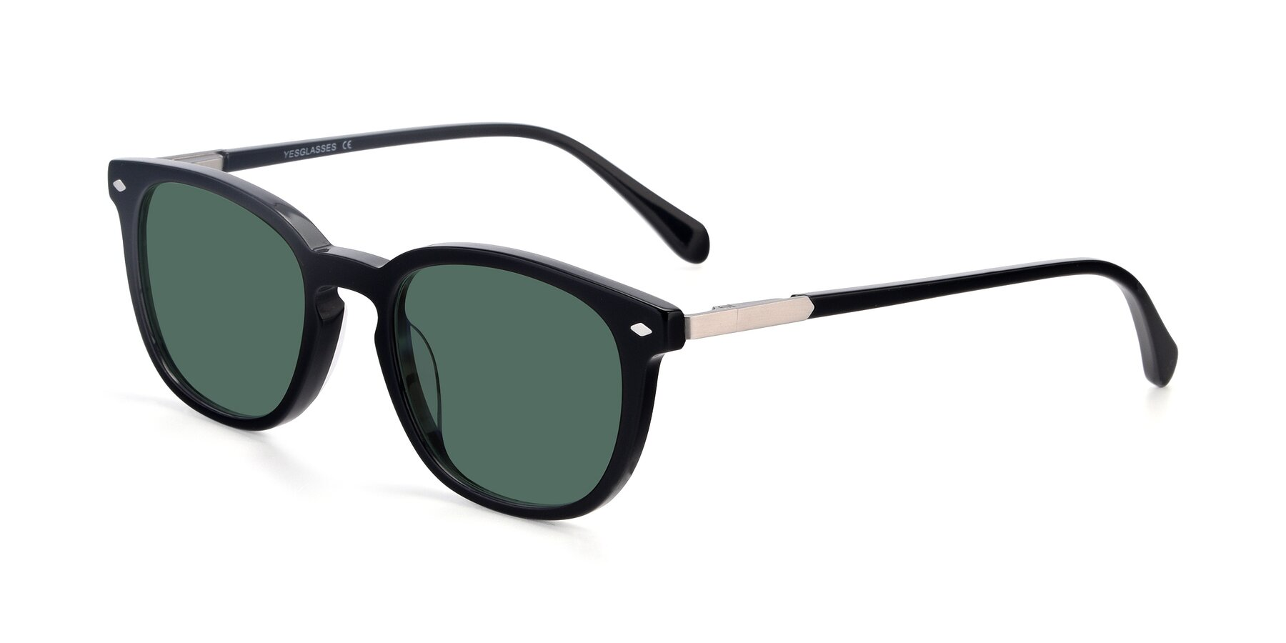 Angle of 17578 in Black with Green Polarized Lenses