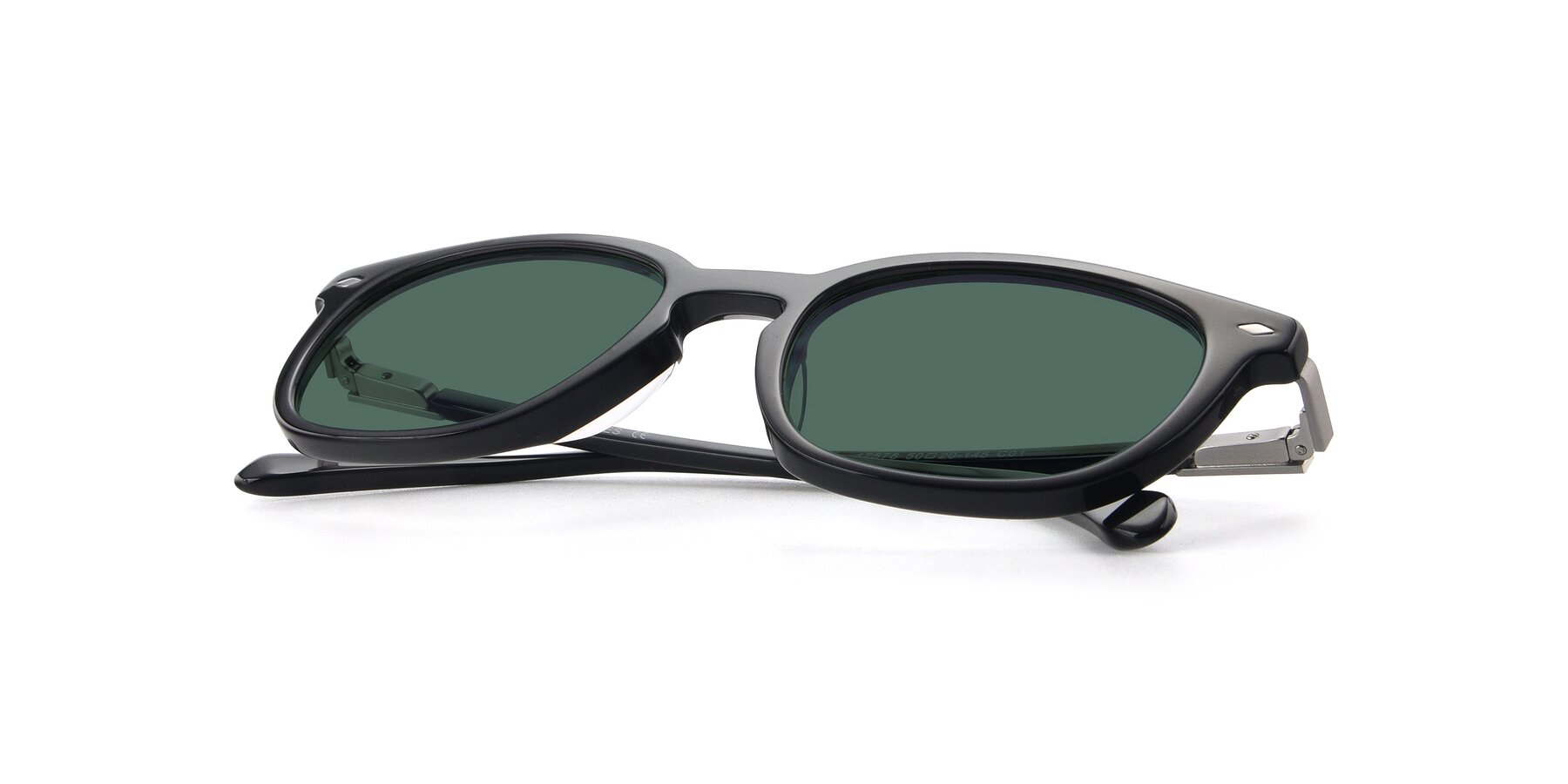 View of 17578 in Black with Green Polarized Lenses