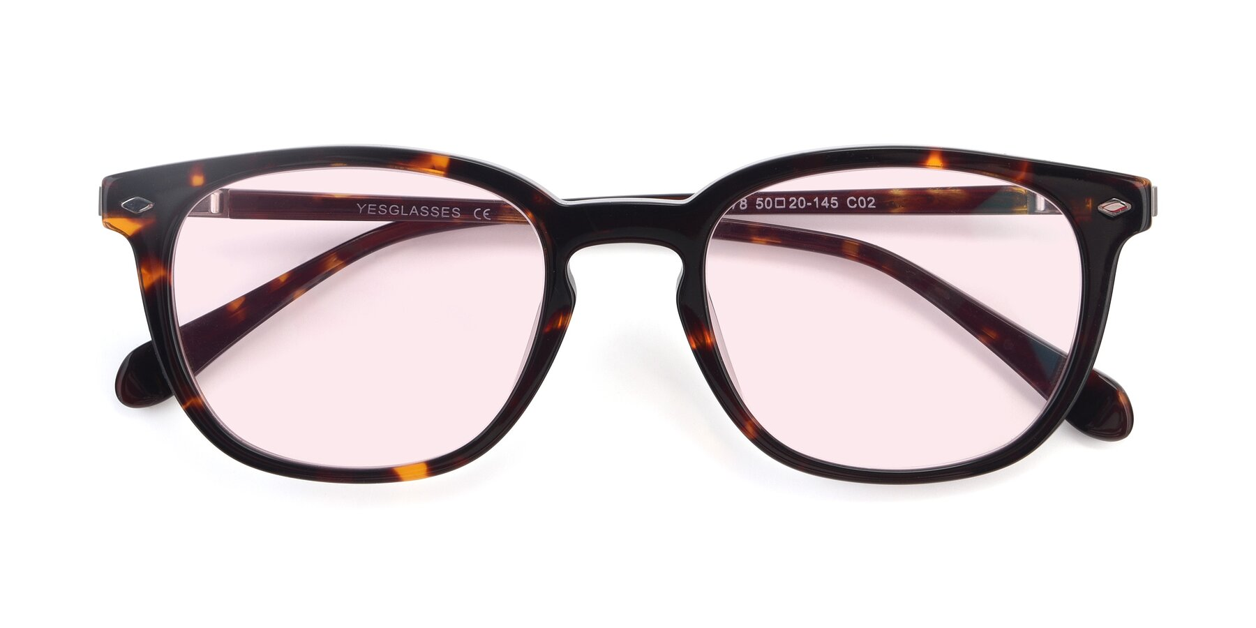 Folded Front of 17578 in Tortoise with Light Pink Tinted Lenses