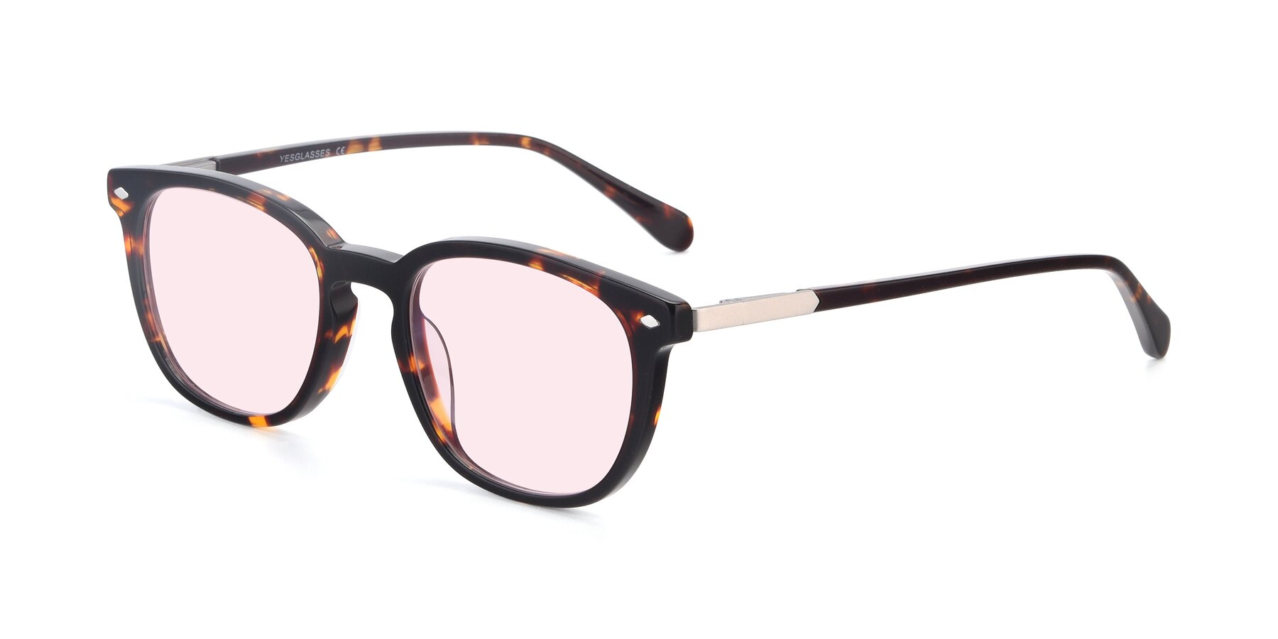 Angle of 17578 in Tortoise with Light Pink Tinted Lenses