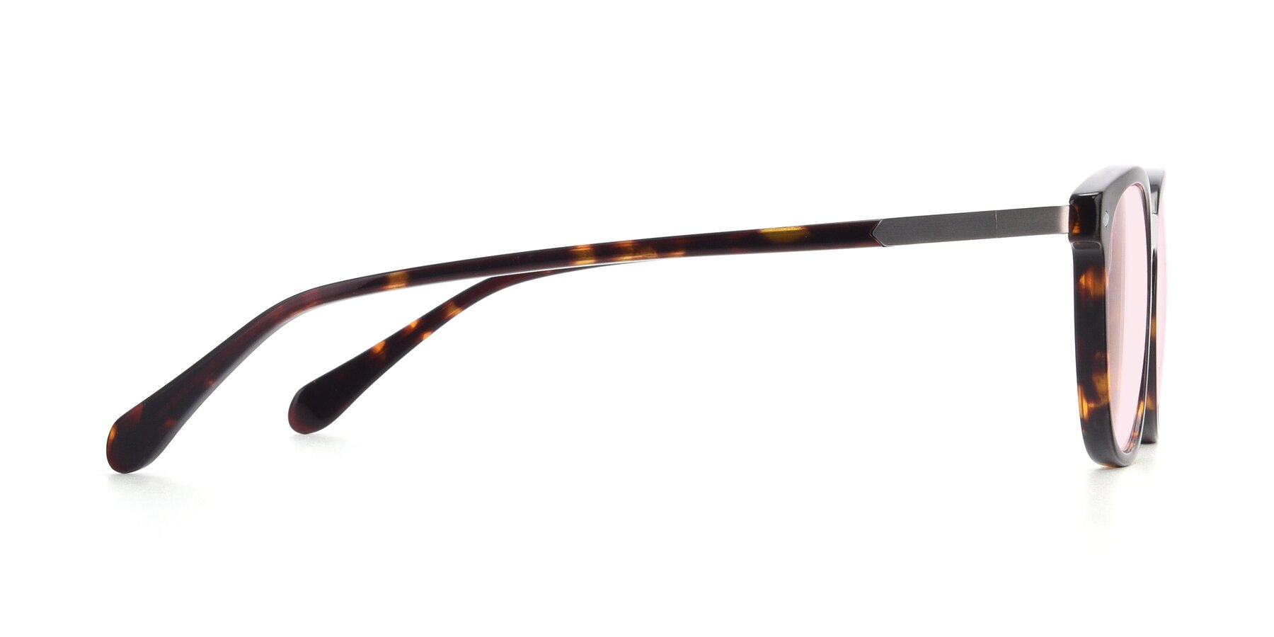 Side of 17578 in Tortoise with Light Pink Tinted Lenses