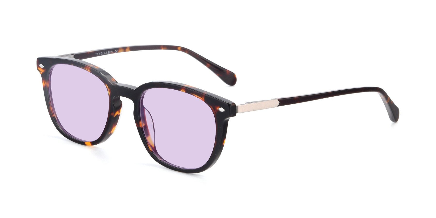 Angle of 17578 in Tortoise with Light Purple Tinted Lenses