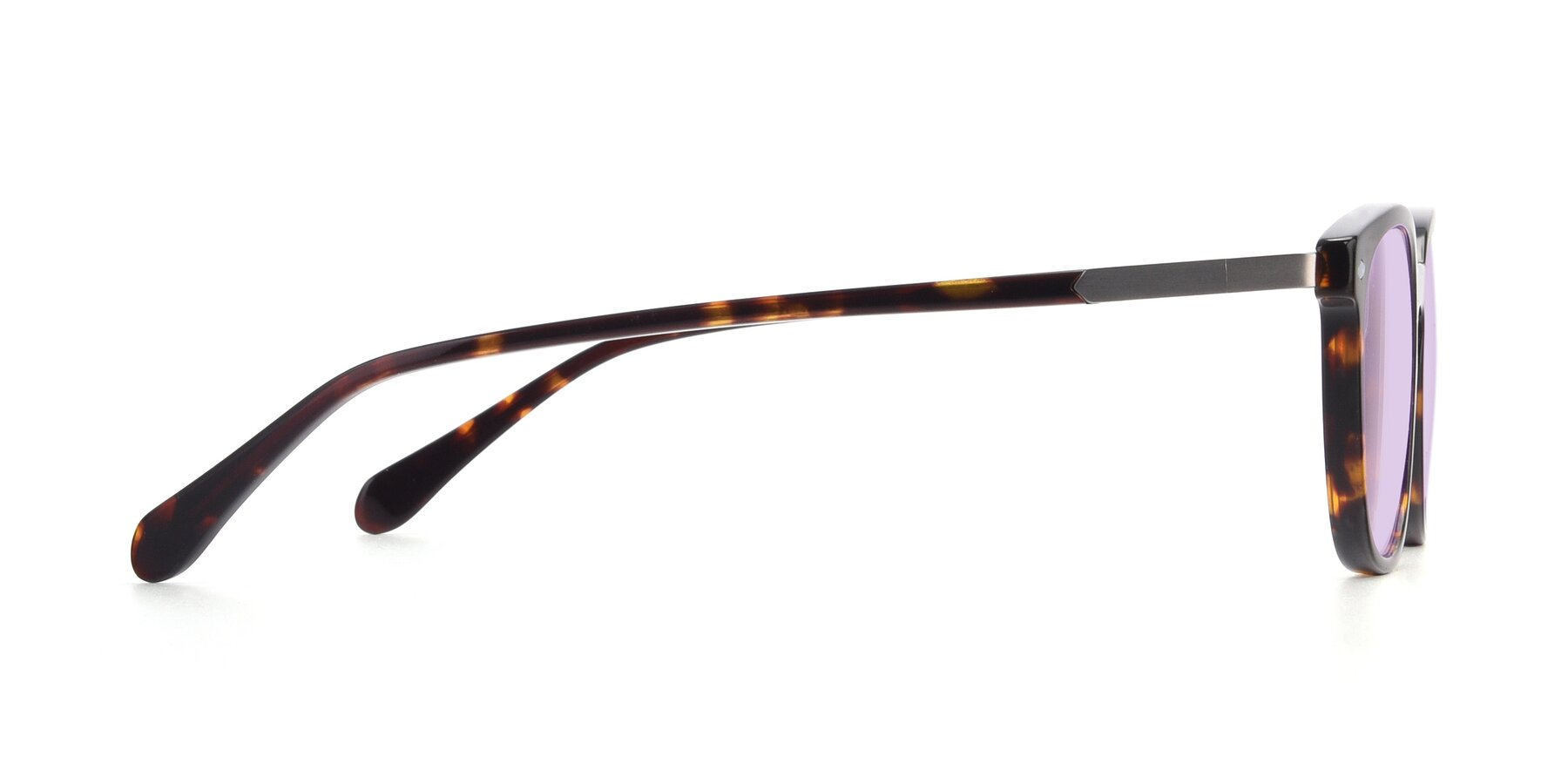 Side of 17578 in Tortoise with Light Purple Tinted Lenses