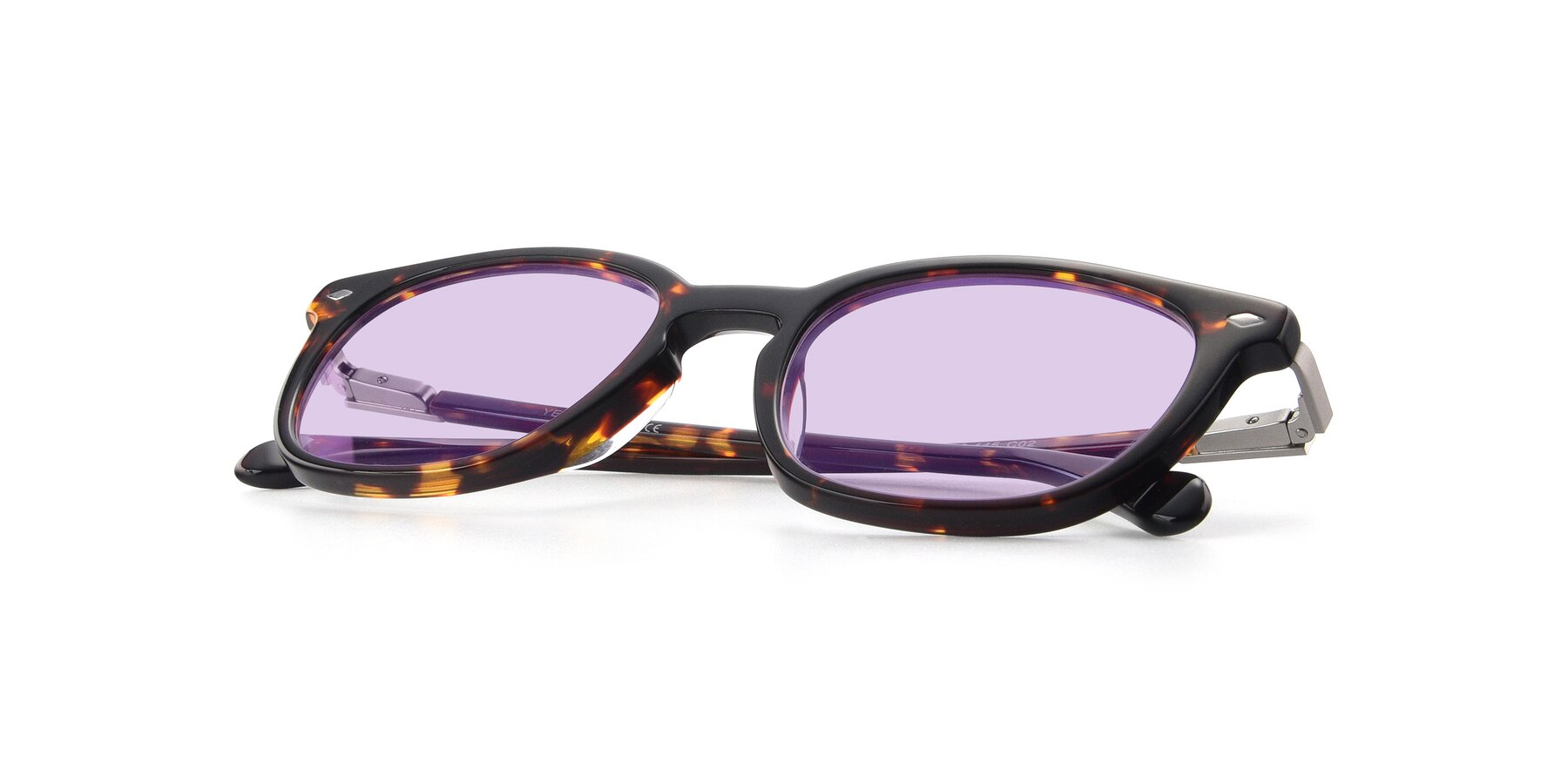 View of 17578 in Tortoise with Light Purple Tinted Lenses