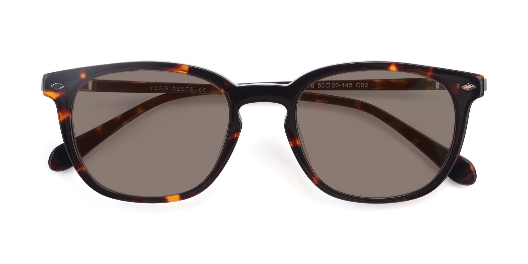 Folded Front of 17578 in Tortoise with Medium Brown Tinted Lenses