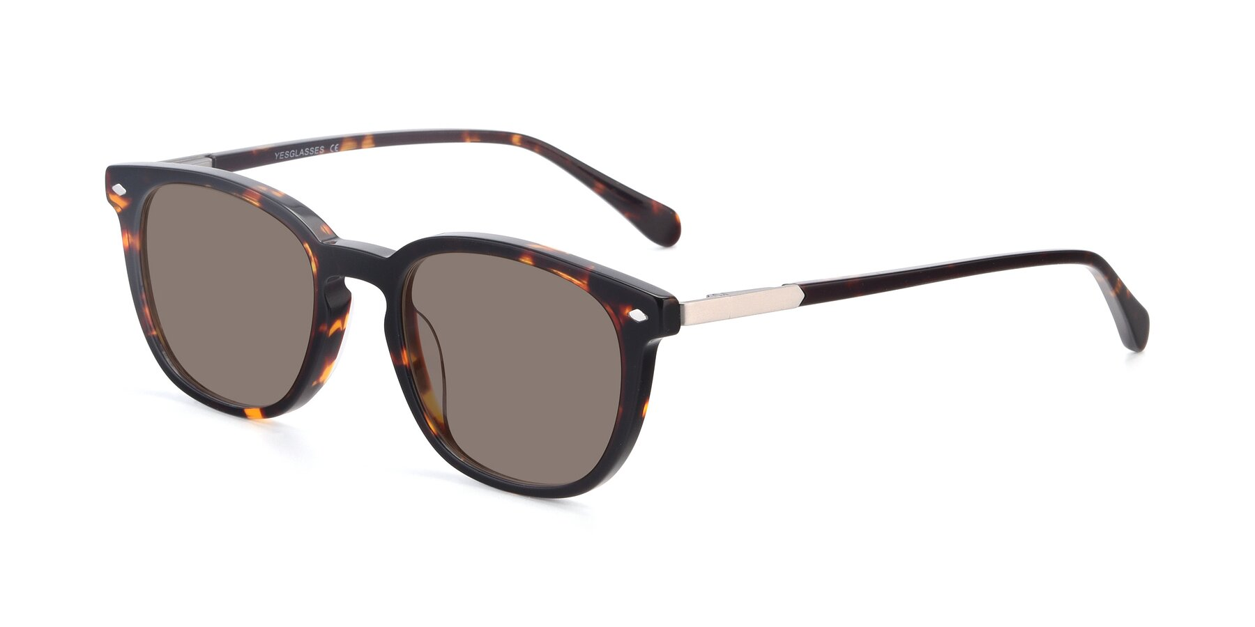 Angle of 17578 in Tortoise with Medium Brown Tinted Lenses